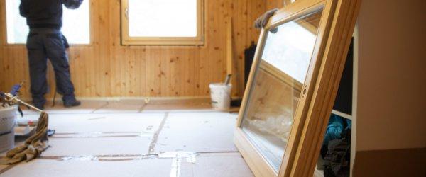 pose fenêtre en bois